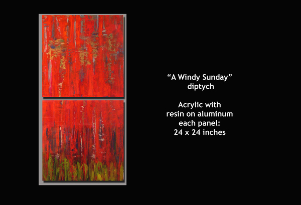 A Windy Sunday - diptych