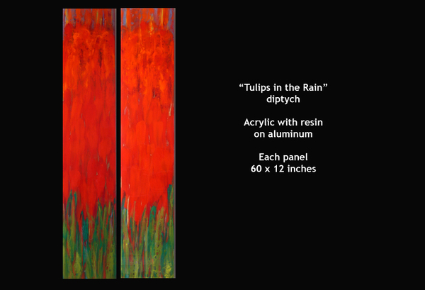 Tuliips in the Rain - diptych
