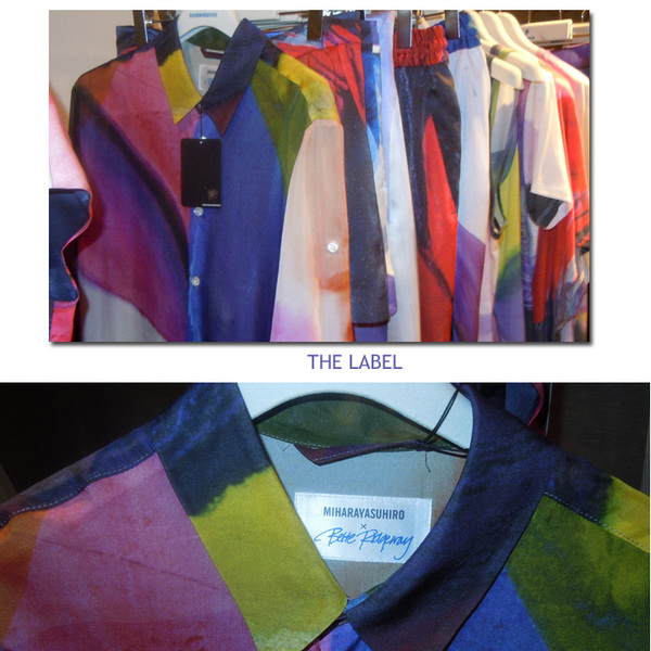 a rack of the designs - and the collaboration label